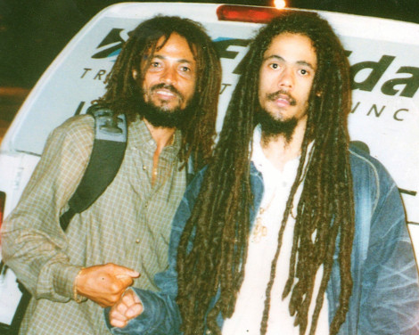 ichmael with junior gong marley